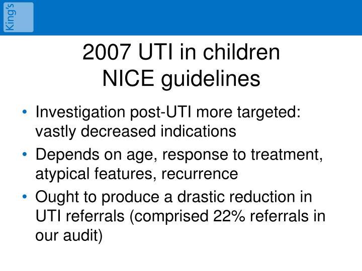 2007 UTI in children