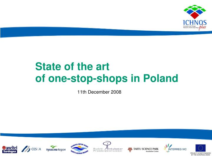 state of the art of one stop shops in poland n.