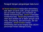 paragraf dengan pengulangan kata kunci