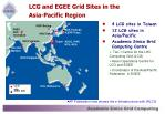 lcg and egee grid sites in the asia pacific region