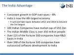 the india advantage