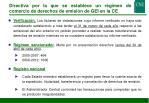 directiva por la que se establece un r gimen de comercio de derechos de emisi n de gei en la ce4