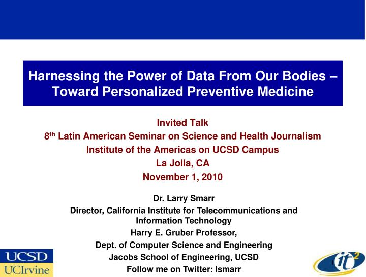 harnessing the power of data from our bodies toward personalized preventive medicine n.