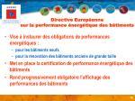 directive europ enne sur la performance nerg tique des b timents
