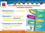 la communication au niveau europ en exemples d actions