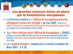 les grandes mesures mises en place par la commission europ enne
