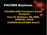 pacons business