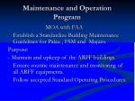 maintenance and operation program