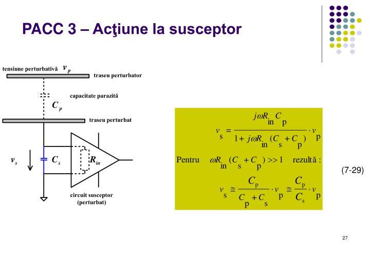 PACC 3 – Acţiune la susceptor