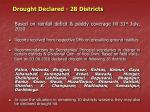 drought declared 28 districts