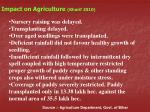 impact on agriculture kharif 2010