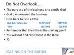 do not overlook