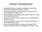 joshua s development