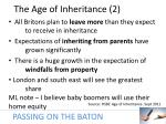 the age of inheritance 2