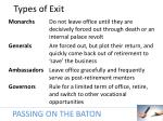 types of exit