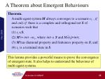 a theorem about emergent behaviours