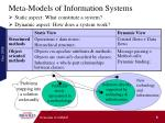 meta models of information systems