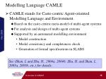 modelling language camle