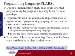 programming language slabsp