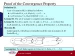 proof of the convergence property