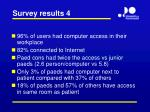 survey results 4