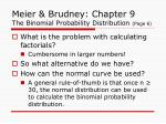 meier brudney chapter 9 the binomial probability distribution page 6