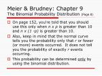 meier brudney chapter 9 the binomial probability distribution page 8