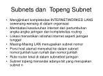 subnets dan topeng subnet