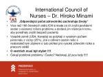 international council of nurses dr hiroko minami
