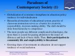 paradoxes of contemporary society 1