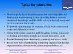 tasks for education