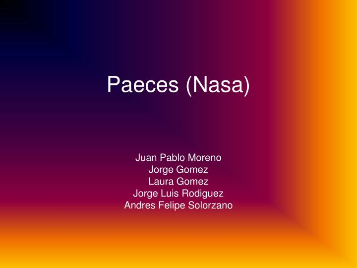 paeces nasa n.