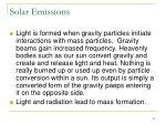 solar emissions