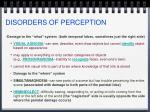 disorders of perception1