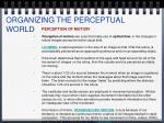 organizing the perceptual world20
