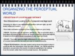 organizing the perceptual world3