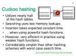 cuckoo hashing1