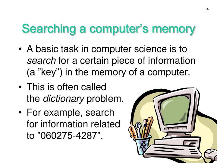 Searching a computer's memory