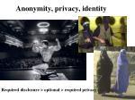 anonymity privacy identity
