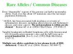 rare alleles common diseases