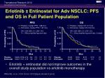 erlotinib entinostat for adv nsclc pfs and os in full patient population
