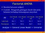 factorial anova1
