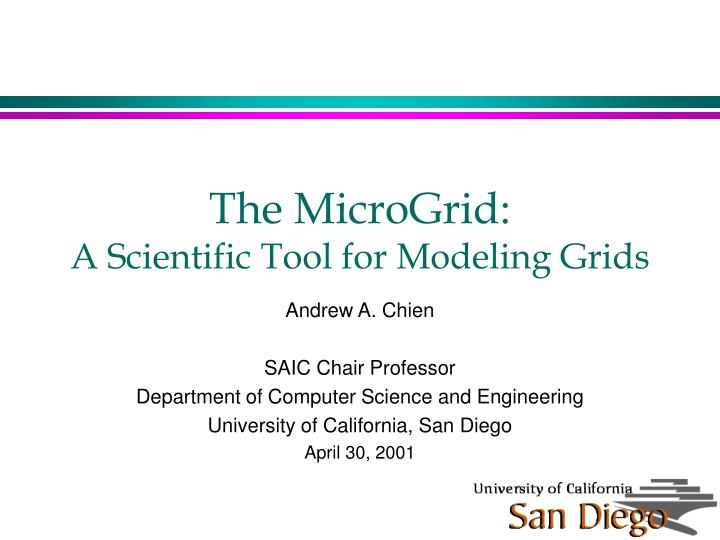 the microgrid a scientific tool for modeling grids n.