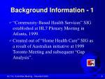 background information 1