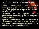 4 en el orden internacional
