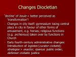 changes diocletian
