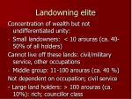 landowning elite