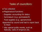 tasks of councillors