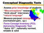 conceptual diagnostic tests