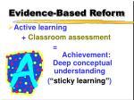 evidence based reform